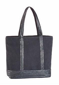 Melrose velúrbőr táska flitterekkel