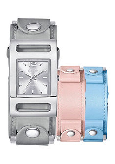 Buffalo Dámské náramkové hodinky se dvěma vyměnitelnými řemínky