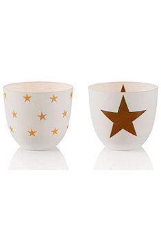 Dekorační svícny, 2-dílné »hvězda«