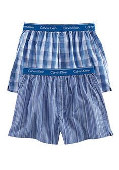 Calvin Klein boxeralsó (2db), kényelmes fazon, szép szőtt márkaminőségben