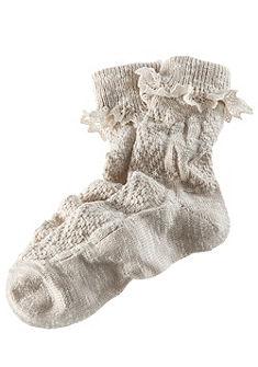 Krojové ponožky dámske s jemnou čipkou