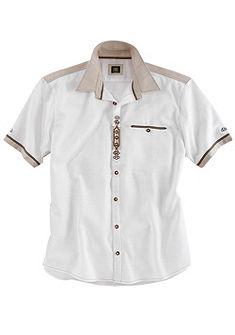 OS-Trachten Krojová košile ve lněném vzhledu