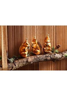 Thüringer Vianočná ozdoba - veveričky »advent« (3-dielne)