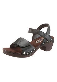 Rieker Pásikavé sandále s lesklými nitmi