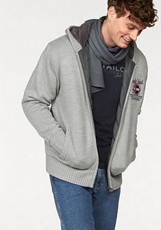 Pletený svetr s kapucí