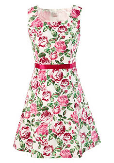 Krojové šaty s potiskem růží