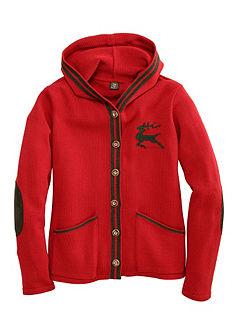 OS-Trachten Dámský krojový pletený svetr s kapucí