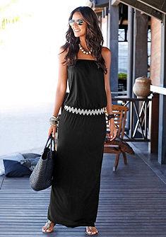 LASCANA Dlouhé šaty s módním vzorem cik-cak