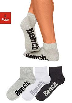 Bench zokni (3 pár) magas pamuttartalommal
