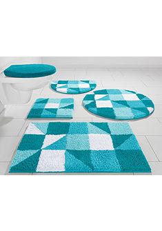 Fürdőszobaszönyeg, kerek, my home Selection, »Denise«, magasság 20mm, mikroszálas,csúszásgátló hátoldal
