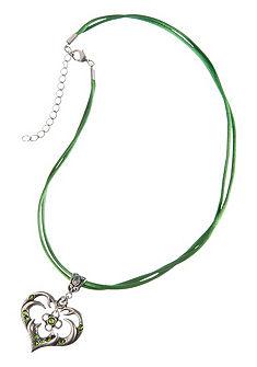 Dámský krojový náhrdelník s přívěskem ve tvaru srdíčka