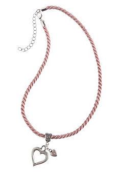 Dámský krojový náhrdelník s přívěskem ve tvaru srdce, Lusana