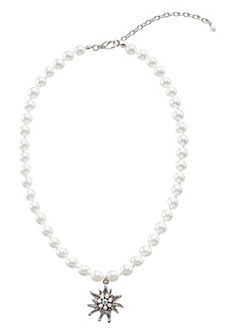 Krojový náhrdelník s príveskami a korálkami, Lusana