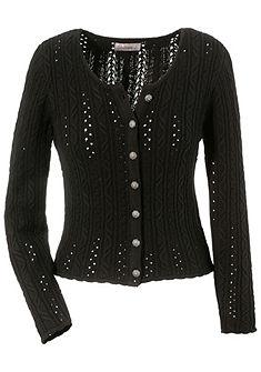 Dámský krojový svetr s copánkovým vzorem, Stockerpoint