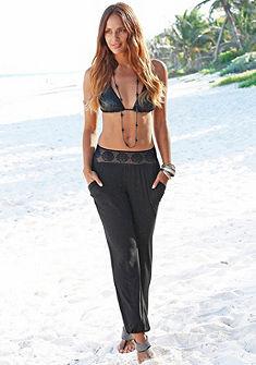 LASCANA Plážové nohavice, pás v háčkovanom vzhľade