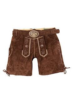 Krátké dámské krojové kožené kalhoty s vyšívanými prvky, Country Line