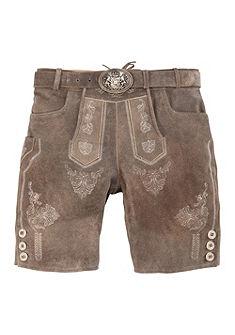 Krojové kožené nohavice krátke s výšivkou, Country Line