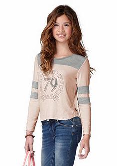 Buffalo Tričko s dlhým rukávom s kontrastným efektom, pre dievčatá