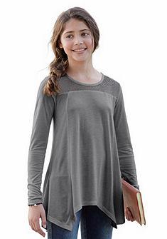 Arizona Tričko s dlouhým rukávem s krajkovou vsadkou, pro dívky