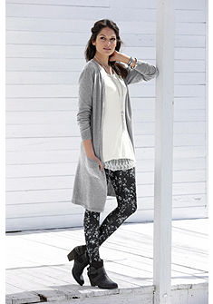 Boysen's Dlhý pletený sveter, kvalitný melírovaný vzhľad