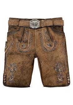 Krojové kožené nohavice krátke s výšivkou, Stockerpoint