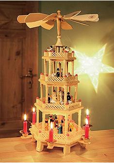 Karácsonyi piramis zenével vagy anélkül