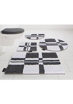 Fürdőszobaszőnyeg, szett fali WC-hez, Bruno Banani, »Calum«, mikroszálas, vastagság 25 mm, csúszásgátló hátoldallal