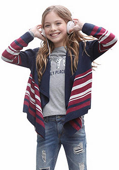 kidsworld Pletený sveter bez zapínania, pre dievčatá
