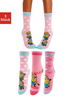 Minions Ponožky detské (3 páry) s rôznymi motívmi