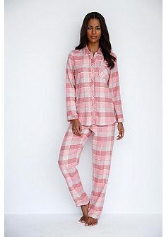 CALIDA Pyžamo s knoflíkovou légou a vzorované kalhoty