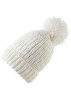 Krojová čepice hrubě pletená