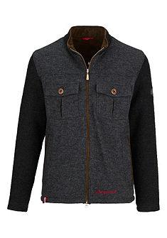 Pánska krojová outdoorová bunda so záplatami na rukávoch, Almgwand