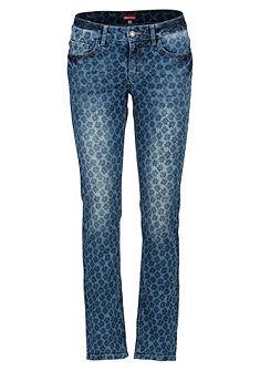 Dámske krojové džínsy spotlačou plesnivca, Almgwand