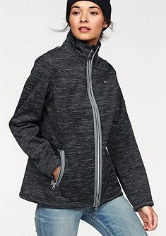 Pletená flísová bunda