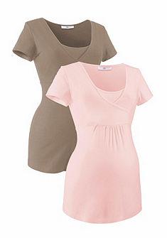 Neun Monate Materské tričko v zavinovacom vzhľade (2 ks)