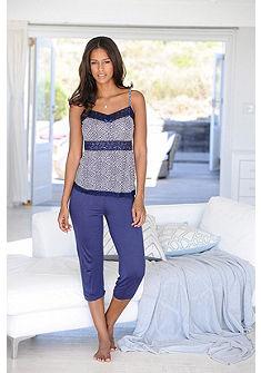 JETTE Capri pyžama s čipkou