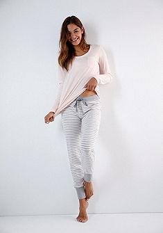 Skiny Pruhované dlouhé pyžamové kalhoty