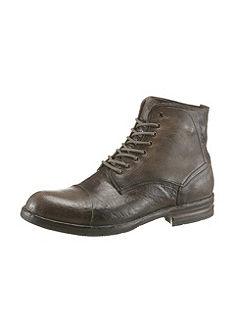 NOCLAIM Šněrovací vysoké topánky