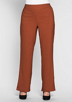 sheego Style Široké kalhoty s elastickým pasem