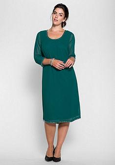 sheego Style Šifónové šaty s korálkami