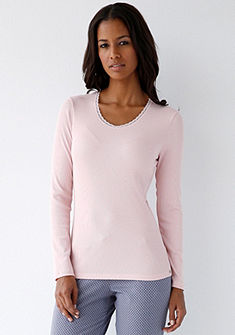 Schiesser Pyžamové tričko s dlouhými rukávy v elastické kvalitě