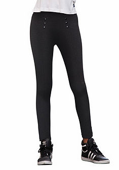 Arizona Elastické kalhoty, zipové aplikace, pro dívky