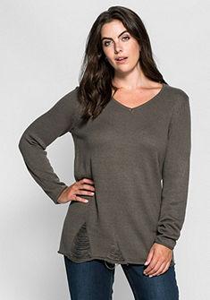 sheego Trend szaggatott hatású pulóver
