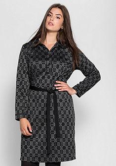 sheego Jacquard šaty s límečkem