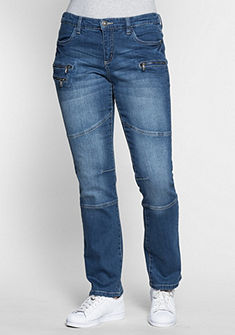 sheego Denim Strečové džínsy »rovné«