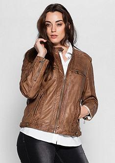 sheego Style dzseki valódi bőrből
