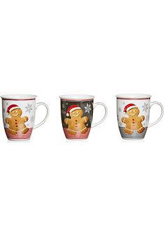 Flirt by R&B Kávové hrnky, porcelán, 3-dílný »vánoční pečení«