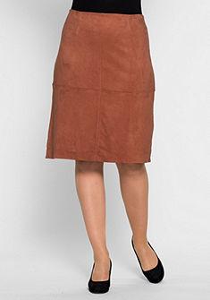 sheego Style Koženková sukně