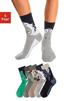Gyerek zokni (5 pár) állat motivummal