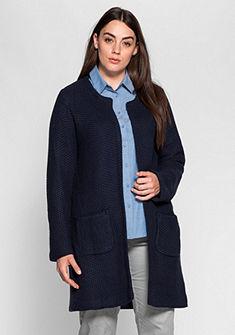 sheego Class hosszú kötött kabát gallér nélkül
